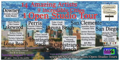 www.MyArt4Therapy.com Features the August Edition of the California Art Experience, Open Studio Tour