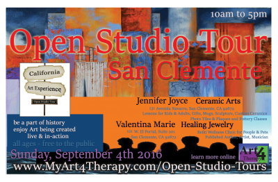 www.MyArt4Therapy.com Features the September Edition of California Art Experience, Open Studio Tour.