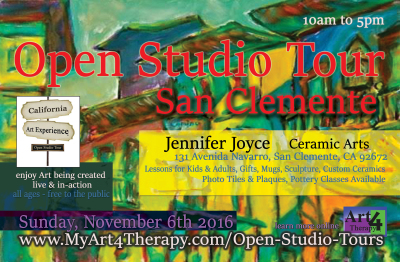 The California Art Experience, Open Studio Tour - November 2016 Edition is Announced