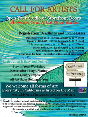 CALL FOR ARTISTS -  Register Your Workshop or Storefront with the Open Studio Tour