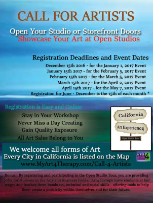 CALL FOR ARTISTS - Open Studio Tours,  January 2017 Edition