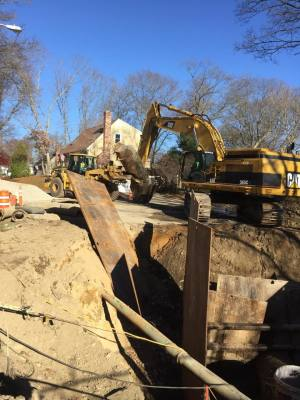 Grant Street in Attleboro Emergency Sewer Repair.