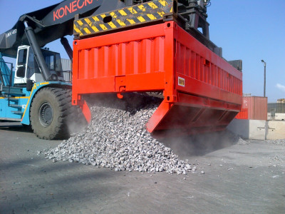 Bottom Discharge Containers for Bulk Material
