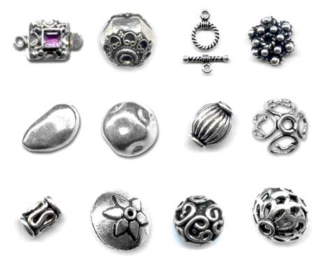mixed 925 sterling silver beads