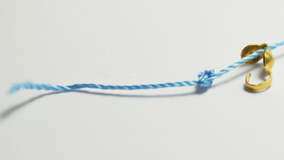 You may need more knots if you are using thinner threads or less if the thread is thicker
