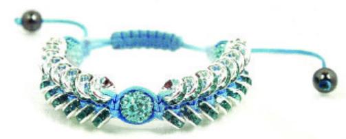 Tutorial for Crystal Shamballa Bracelet