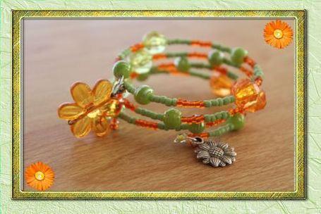 Harvest spice memory wire bracelet