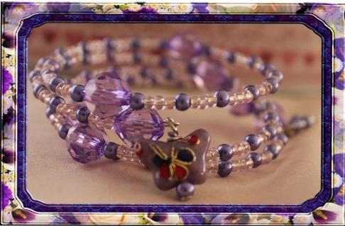 Memory Wire Bracelet with Miyuki Seed Beads