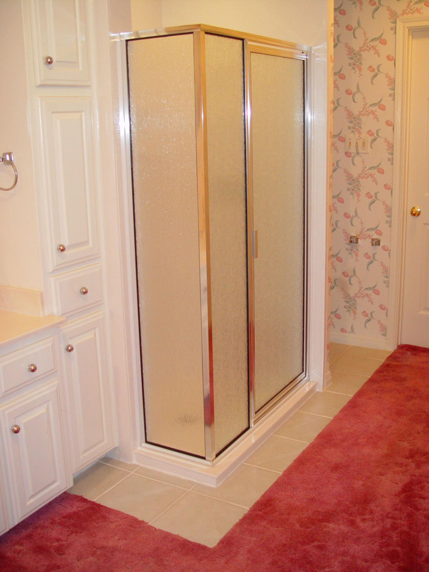 Recessed shower