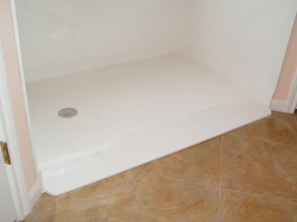 Roll in Marble Shower