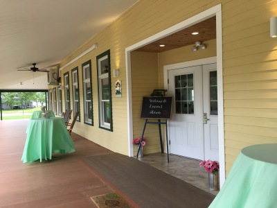 Bridal shower, porch