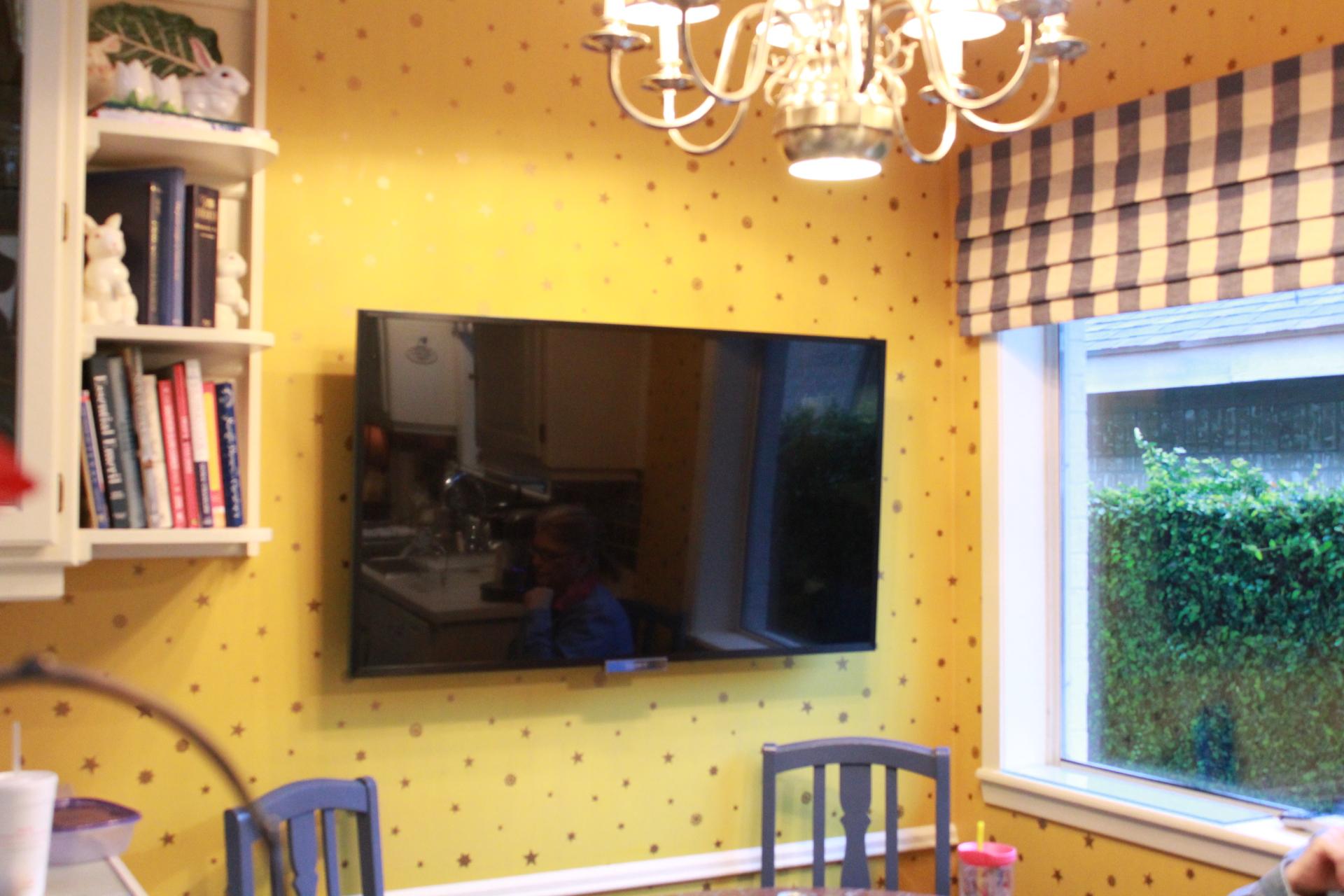 flat screen installation