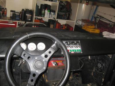 Aluminum Dash with gauge and control mount - Samurai crawler