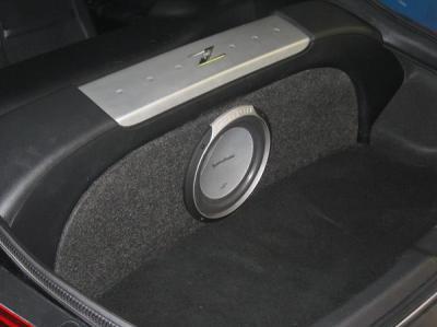 350Z flush mount amp/sub box