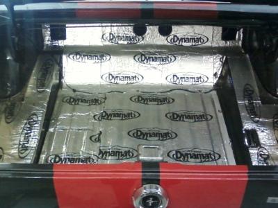 '65 Mustang Dynamat sound deadener