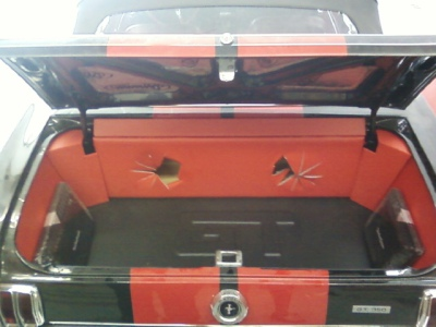 '65 Mustang trunk panels and sub box