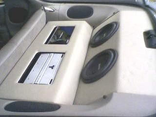 Camero amp rack and sub box - mdf and vinyl
