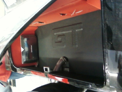'65 Mustang raised lettering