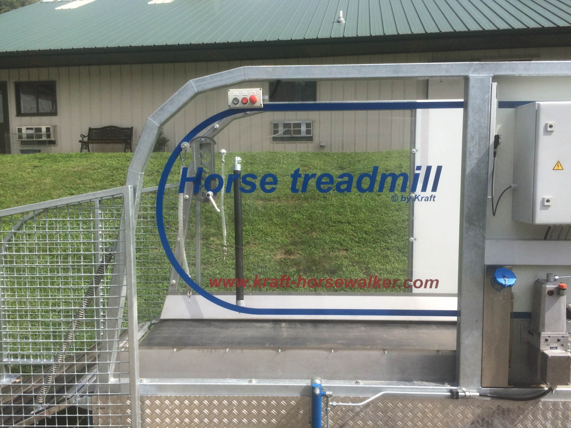 horse treadmill with clear sides at Patchwork Farm, GA