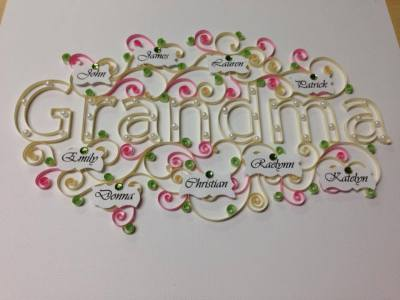 Quilled Name