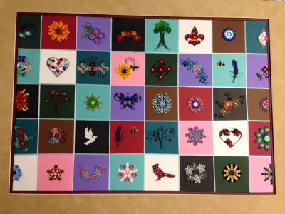 Quilled Paper Quilt