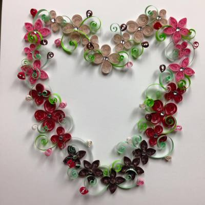 Quilled Flower Heart