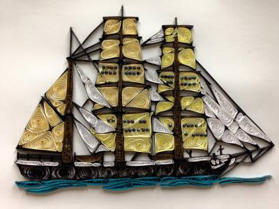Quilled Tall Ship
