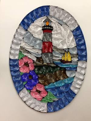 Quilled Stainglass Lighthouse