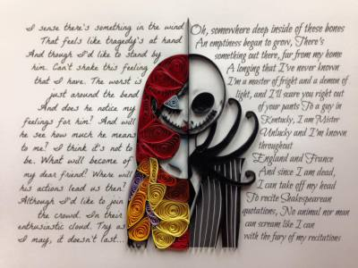 Quilled Jack & Sally
