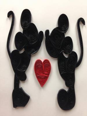 Quilled Mickey & Minnie