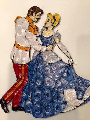 Quilled Prince & Cinderella