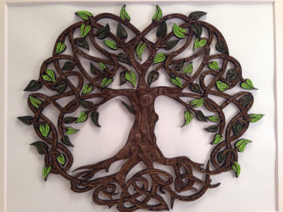 Quilled Celtic Tree of Life
