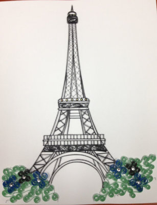 Quilled Eiffel Tower