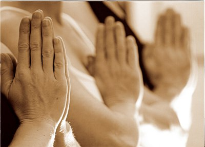 Hands at heart center, Nameste - Poulsbo Shanti Living Wellness Yoga