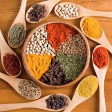 Spices and Herbs used in Ayurveda Wellness by Kym Detwiler-O'Reilly at Shanti Living Wellness