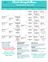 yoga, calendar
