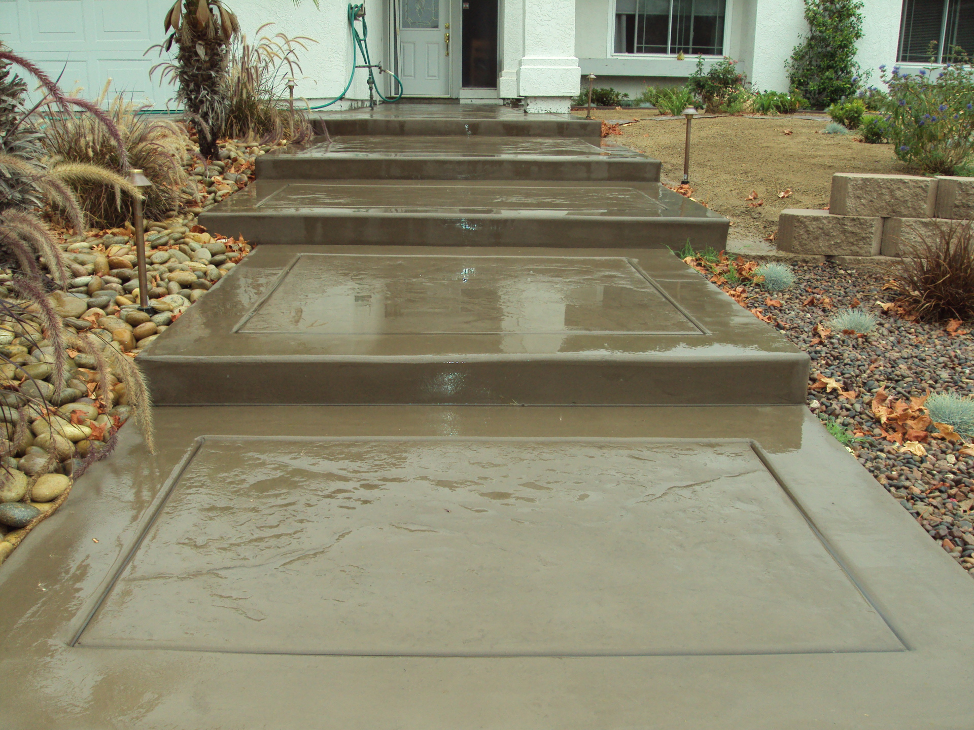 Drought tolerant landscape chula vista, stamped concrete, decomposed granite walkway, custom concrete, davis colors, new driveway, Outdoor Kitchens chula vista, patio covers chula vista, aluminum patio covers, outdoor entertainment areas,
