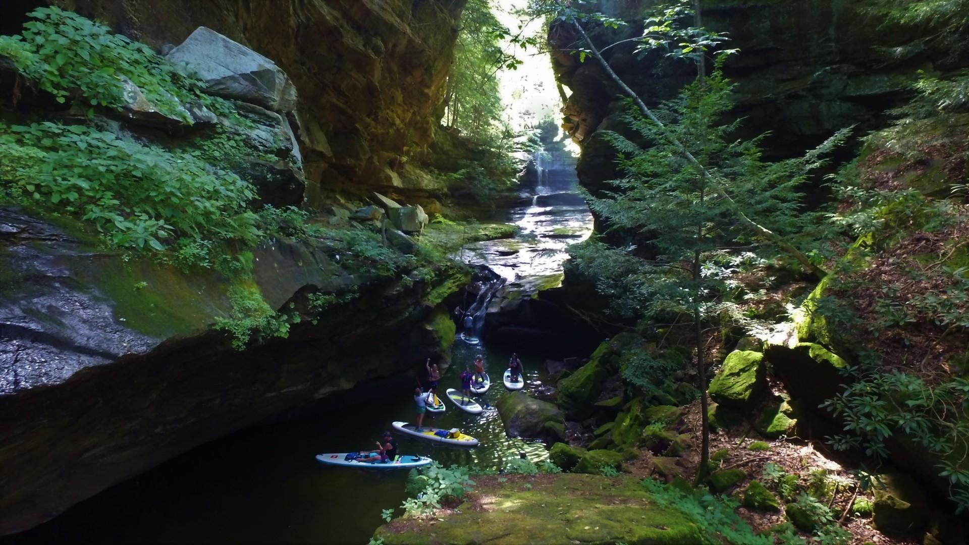 grayson lake, grotto falls, sup kentucky, sup, supky