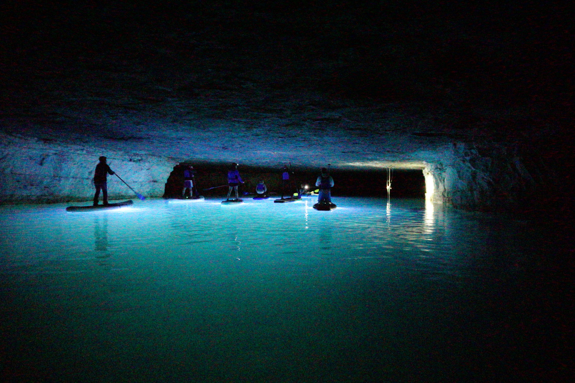 Cavern glow, SUP KY, Stand up Paddle