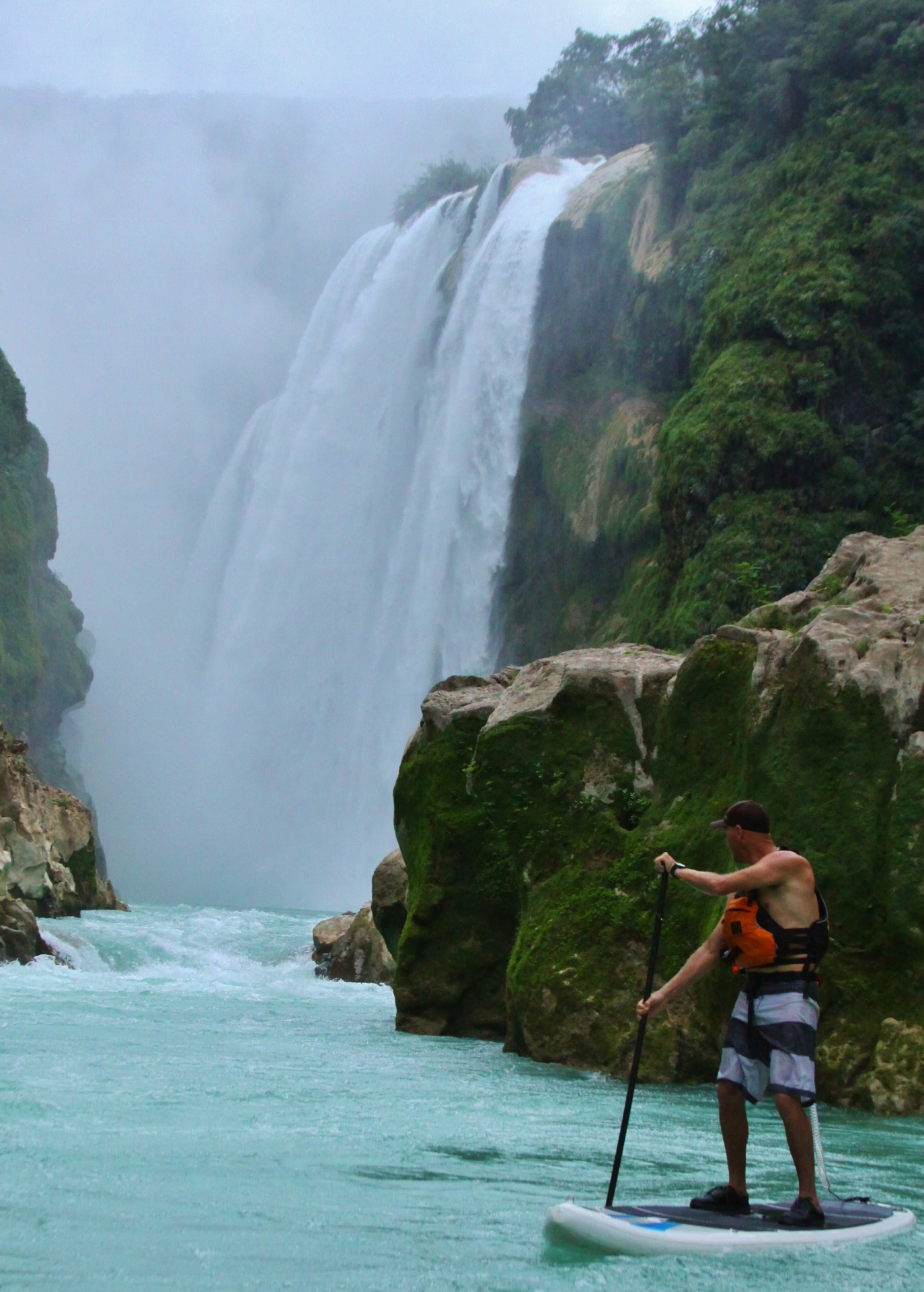 mexico, tamul, cascadas, sup, stand up paddle, sup kentucky