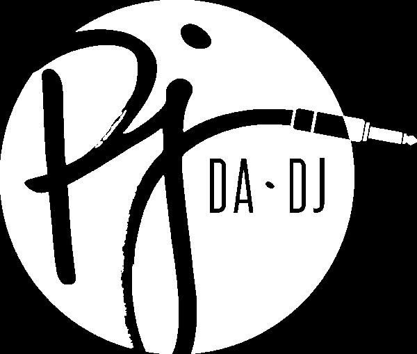 PJDADJ Circle Logo (White)