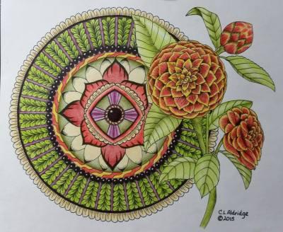 Image from Flower Inspirations, pg. 7. Colorist: Elizabeth Zack Siegel