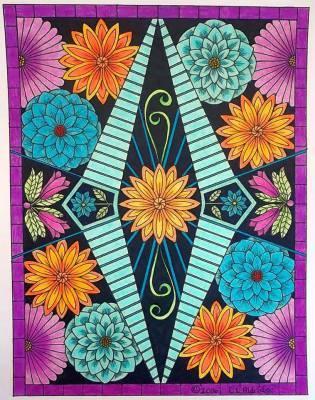 Image from: Flower Inspirations, pg. 3. Colorist: Karen Oderkirk
