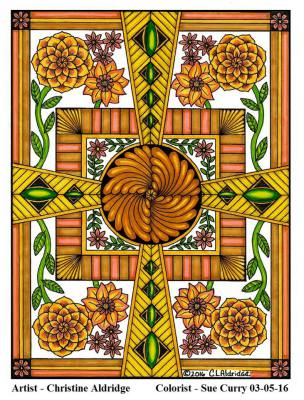 Image from Flower Inspirations, Pg. 12, Colorist: Susan Curry