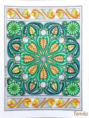 Image from Flower Inspirations, pg 6. Colorist: Tamila Kushnir