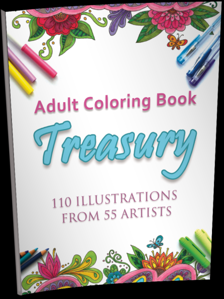 ADULT COLORING BOOK TREASURY (Volume 1)