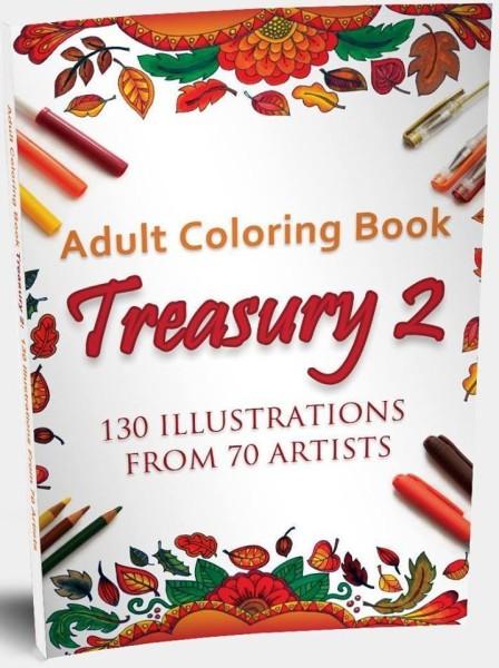 ADULT COLORING BOOK TREASURY 2