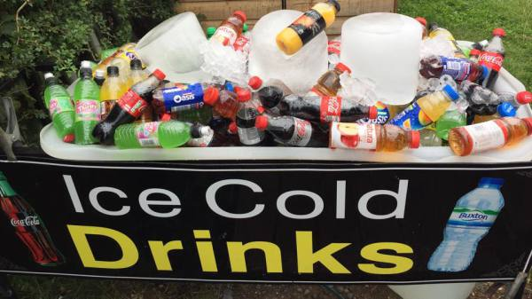 Ice Cold Drinks Available