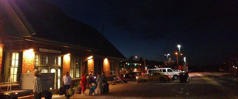 Waiting for the train in Flagstaff