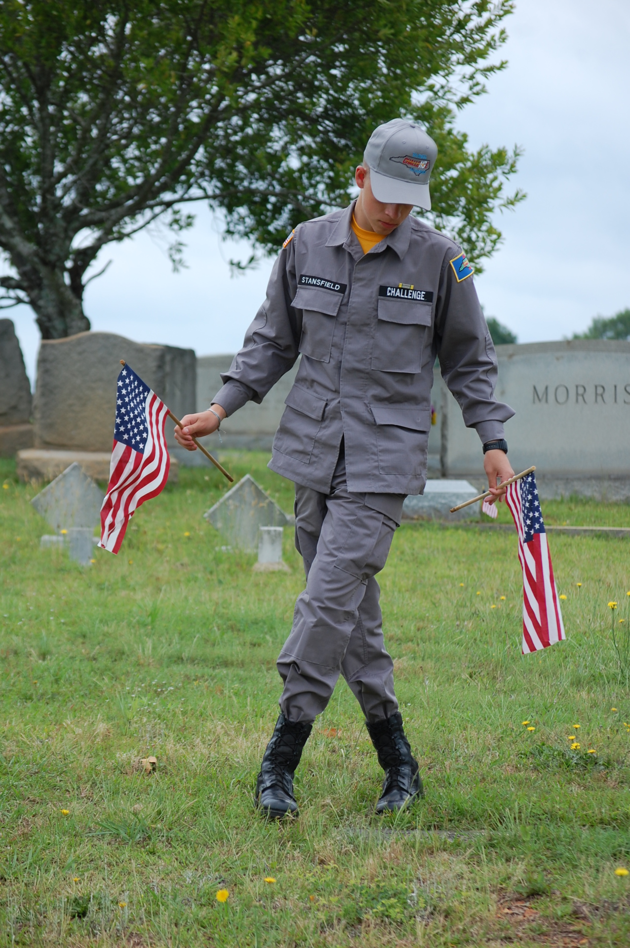 Class 04 Memorial Day Flag Removal